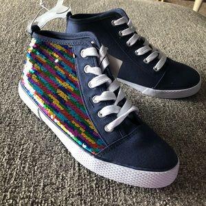 Cat & Jack Navy Zandra high top sneaker
